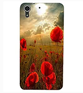 ColourCraft Colourful Circle Pattern Design Back Case Cover for HTC DESIRE 626G+