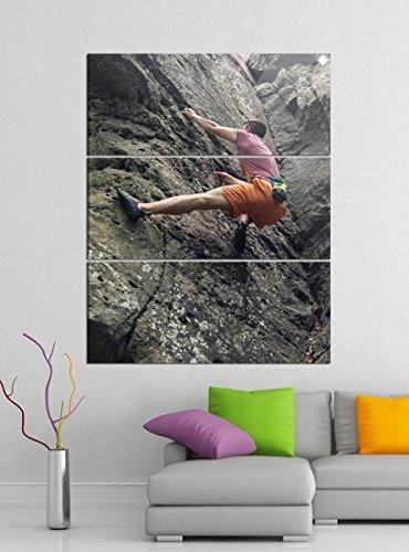 Acrylglasbilder 3 Teilig 120x150cm Freeclimbing Felsen Klettern Extrem Acrylbild Acrylglas Acrylbilder Wand Bild 14E230, Acrylglas Größe 7:BxH Gesamt 120cmx150cm