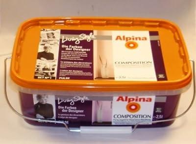 ALPINA Wandfarbe COMPOSITION Pulse, Lila, matt 2,5 Liter von Alpina - TapetenShop