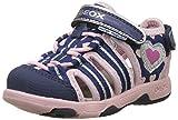 Geox Baby Mädchen B Multy Girl A Sandalen, Blau (Navy/Pink), 26 EU