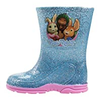 WILLIAM LAMB Lily Rabbit Girls Copahue Slip On Wellington Boots UK Sizes Child 5-10