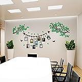 Hongrun Arte De Pared 3D De Acrílico Salón Dormitorio Comedor Sofá Oficina Pared Pared Estilo Fotográfico, Verde Oscuro, EL Rey