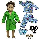 ZITA ELEMENT 5 Stück Nachtwäsche Set Puppenkleidung für American 18 Zoll Girl Junge Und Andere...