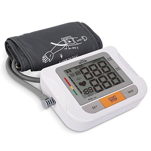 SIMBR Blutdruckmessgerät für den Oberarm Vollautomatisches 180 Speicherplätze Höher Genäuigkeit