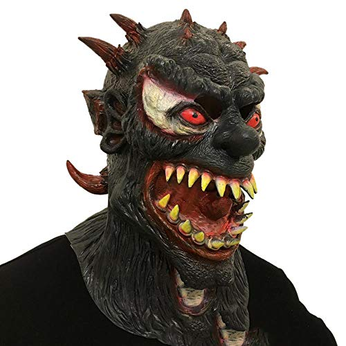 Kostüm Monster Krieg Der - XiangYu Halloween Maskerade Resident Evil Monster Horror Maske Cosplay Vollgesichtsmaske Black