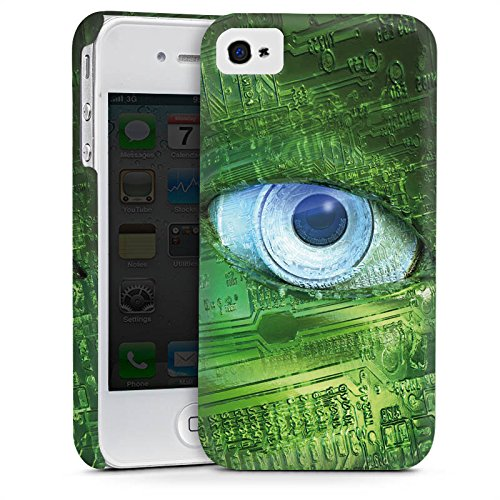 Apple iPhone 4 Housse Étui Silicone Coque Protection ¼il ¼il Technique Cas Premium mat