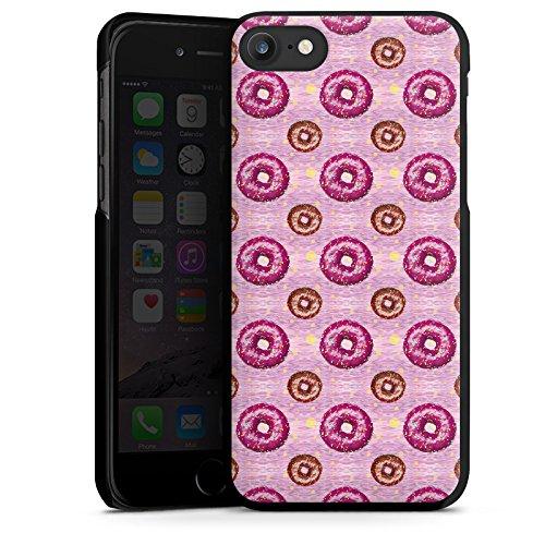 Apple iPhone X Silikon Hülle Case Schutzhülle Donut Party Pink Braun Hard Case schwarz
