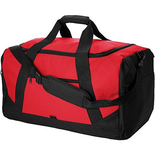 Borsa viaggio - solido nero/solido bianco rosso