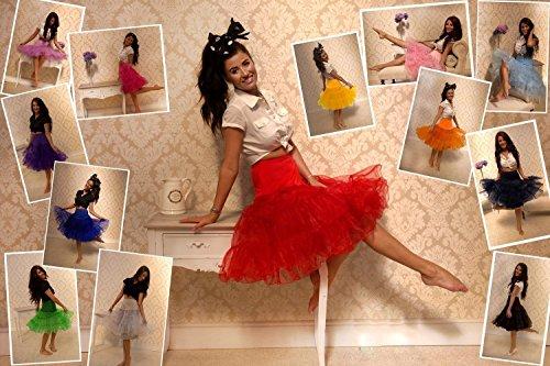 Boolavard® TM 50 von 1950er Rockabilly Petticoat Rock Vintage Swing - 5