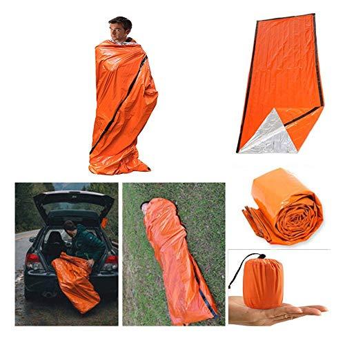 Zelt - 2019 Wasserdichter Notüberlebens Schutz Zelt - 1 Personen Notzelt - Verwendung als Überlebenszelt, Notunterkunft, Schlauchzelt, Überlebensplane - für Outdoor Camping Wandern (Orange) -
