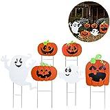 Tinksky Decorazione spettrale del fantasma della zucca del regalo del cortile di Halloween 6pcs con la decorazione Halloween del partito del giardino domestico accessorio esterno di Halloween dell'albero