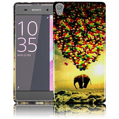 Sony Xperia XA - FLIEGENDER ELEFANT Silikon Schutz-Hülle weiche Tasche Cover Case Bumper Etui Flip smartphone handy backcover Schutzhülle Handyhülle thematys®
