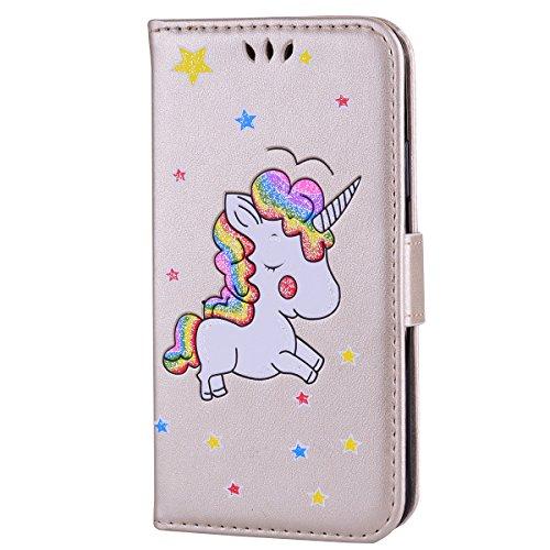 Custodia per iphone, design a portafoglio con porta carte di credito, custodia protettiva pieghevole per iphone iphone 7 plus color 4
