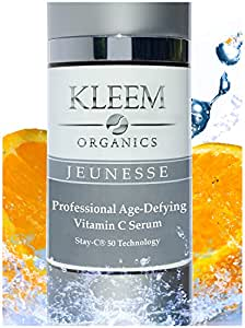 ORGANIC Vitamin C Serum for Face with Hyaluronic Acid and Vitamin E. Better than any Anti Aging Creams this is Proven to Reduce Wrinkles, Age Spots & Acne for a Healthier, Younger Looking Skin. 30 ml