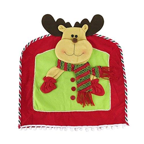 LUOEM Housses de Chaise de Noël Chaise de Renne Couverture arrière décorations de Table de noël