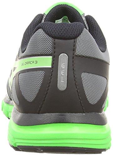 Asics Gel-Zaraca 3, Scarpe sportive, Uomo Charcoal/Flash Green/Onyx 9785