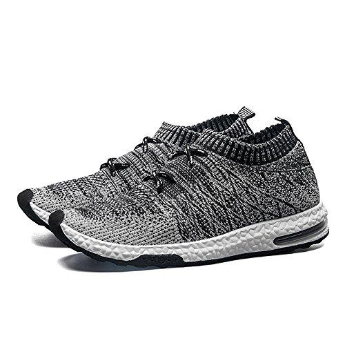 cbe09beef FLARUT Deportes Zapatillas de Running zapatos antisísmica de tejidas Zapatos  para Correr respirable para Hombre(gris oscuro 43)