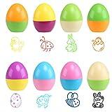 Naler 8 x Osterstempel Runde Tiere Kinderstempel für Ostern Stempel in Ei-Form