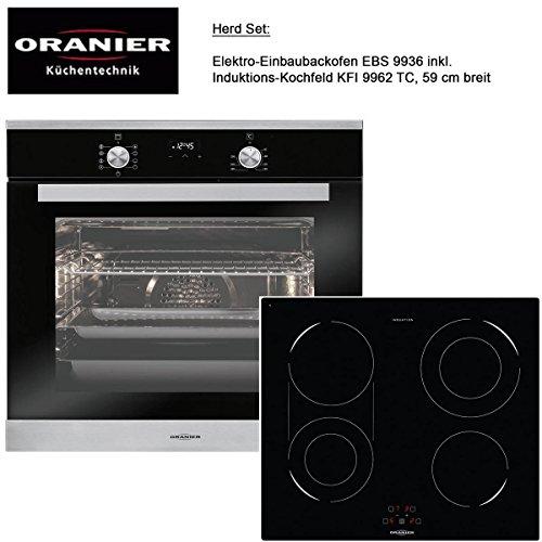 Instalación del Horno EBS 9936con quemador de inducción/Ancho 59cm/EN Juego de Oranier