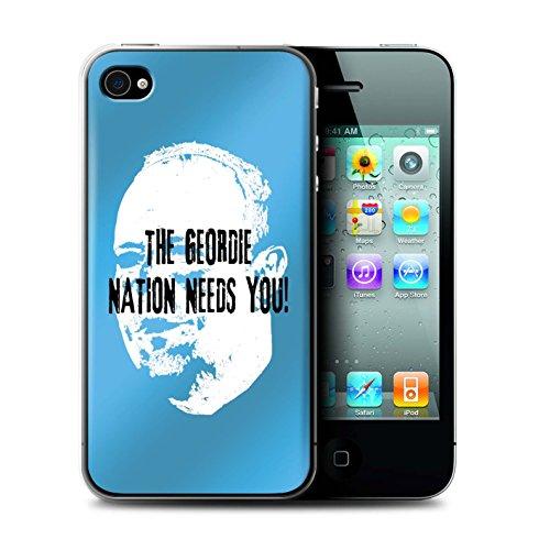 Offiziell Newcastle United FC Hülle / Case für Apple iPhone 4/4S / Pack 8pcs Muster / NUFC Rafa Benítez Kollektion Geordie Nation