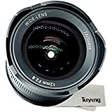 7artisans 12mm F2.8 Ultra Wide Angle Lens For Canon EOS M EF-M Mount Mirrorless Camera - Manual Focus Prime Fixed Lens And TUYUNG Cleaning Kit