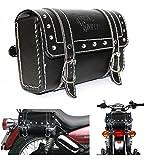 #9: Generic (unbranded) 83359 Square Saddle Bag for Royal Enfield (Black, M)