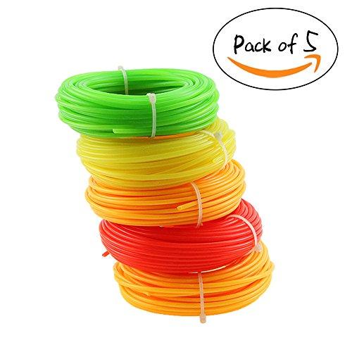 Dawa - Rollo de Cuerda de Nailon de Alta Calidad para la mayoría de los cortacéspedes de Gasolina, recambios de máquina, Herramientas de jardín, 15 m x 2,4 mm (Color al Azar)
