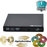 Externer Lightscribe-Brenner für Netbook / PC / Laptop / Mac (USB 2.0, DVD RW / CD RW)