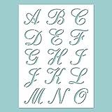 Zita's Creative Schablone - ABC Calligraphy, Schablon, Stencil