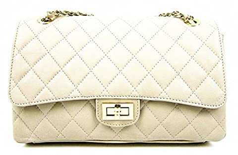 Italian Leather Quilted Designer Classic Handbag