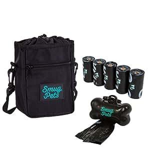 smugpets sac pochette sacoche friandises pour chien avec distributeur de sac d jection. Black Bedroom Furniture Sets. Home Design Ideas