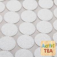 Velcro adhesivo redondo pequeño blanco