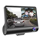 """CZWXCD Auto DVR Fahren Recorder 4""""Screen 3 Lens6-Schicht Glas HD 1080P 170 Grad Weitwinkel Parkplatz Monitor G-Sensor Auto DVR Kamera Nachtsicht"""