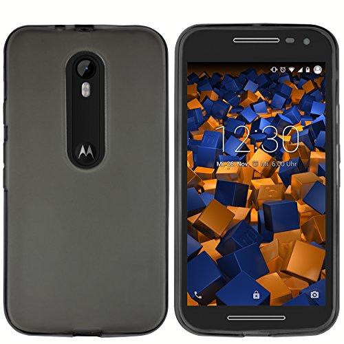 Preisvergleich Produktbild mumbi Schutzhülle Motorola Moto G (3. Generation) Hülle transparent schwarz
