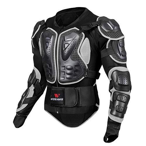 Amphia - Motorrad-Ganzkörperpanzerjacke Motocross Racing Spine Brustschutzmantel - Schwarze Motorrad-Rüstung für Männer und Frauen,...