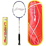 Li-Ning Professional Badminton Combo (G-Tek 90II Badminton Racquet + Champion Pro Feather Shuttlecock, Pack Of 12)