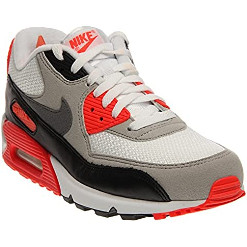 Nike - Air Max 90 OG - Color: Blanco-Negro-Rojo - Size: 42.0
