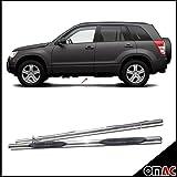 OMAC GmbH Suzuki Grand Vitara 3trg Trittbretter Schwellerrohre Chrom Edelstahl 2005-2015