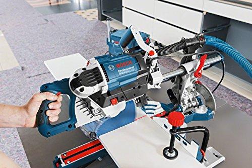 Bosch Professional Paneelsäge GCM 8 SDE (Kreissägeblatt, Klemme, Karton, Schnittkapazität 0°: 70 x 312 mm, Sägeblattdurchmesser: 216 mm, 1600 Watt) - 2