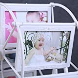 Picture Frame Riesenrad Fotorahmen Tisch Einrichten Rotierende Windmühle Kunststoff Bilderrahmen Kombinierter Hochzeitsfotostudio-Babyfotorahmen,White