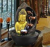 WYDZSM Desktop Fortunato Ornamenti Fontana d'Acqua Soggiorno Umidificatore Sud-EST Asiatico Casa Decorazione Buddha Statua Acqua Decorazione Zen Cinese Cascata Interna