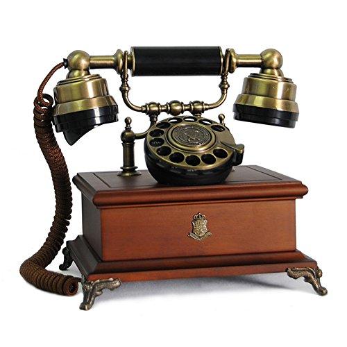 Massivem holz vintage dekorative telefone,Rotary dialing Retro-telefon mit schnur 268 * 240 * 280 mm-B