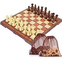 Peradix Tablero de ajedrez para niños Plegable Magnético Juego de Tácticas de Educación 34.5 × 29.7cm