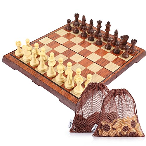 Peradix Tablero de ajedrez Plegable Magnético Juego de Tácticas de E