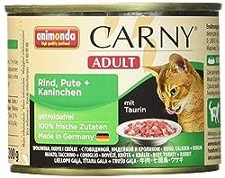 Animonda Katzenfutter Carny Adult Mix2 aus 4 Varietäten, 12er Pack (12 x 200 g)