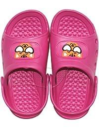 1 Paar Kinder Mädchen Badelatschen, Freizeitlatschen, Badepantoletten Größe: 27, pink, pi-27