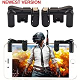 ClickCase™ Mobile Game Controller [Upgraded Version 2018 Gen],Sensitive Fire Shooting and Aim Gaming Trigger Buttons L1 R1 (1 Pair) for PUBG Mobile Android & IOS SmartPhone (With Trigger Carrying Case)