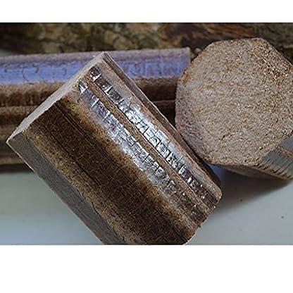 Normandía briquetas de madera de haya 12 kg estufa y Pizza horno de leña, muy caliente y de larga duración de la combustión