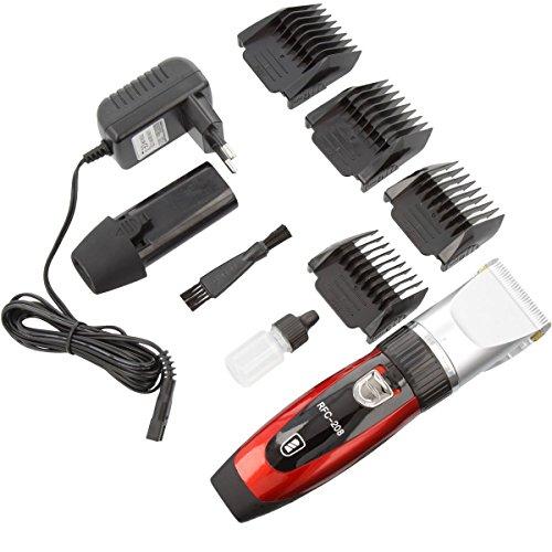 Elektrischer Profi Haarschneider By Ceramics mit 4 Aufsätzen Haarschneidemaschine ideal für Friseur Salon oder Privaten Gebrauch leiser 23K Gold aber starker Motor als Set Netz und Akkubetrieb