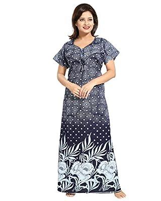 TUCUTE Women's Cotton Maternity Nightwear (SM-DNO-1354-SM, Blue, XL)